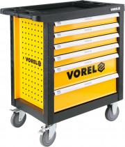 58540 Vorel 58540 pojízdná dílenská skříňka 177 ks nářadí, 6 zásuvek 58540 Vorel
